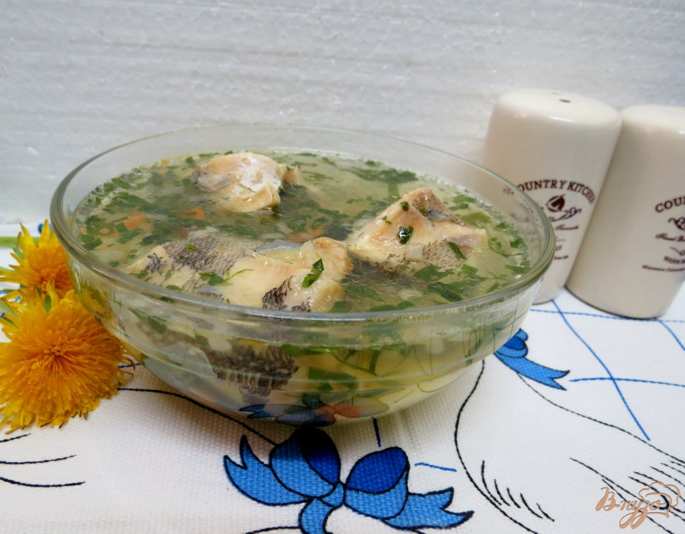 Фото приготовление рецепта: Суп с нототенией и шпинатом шаг №8