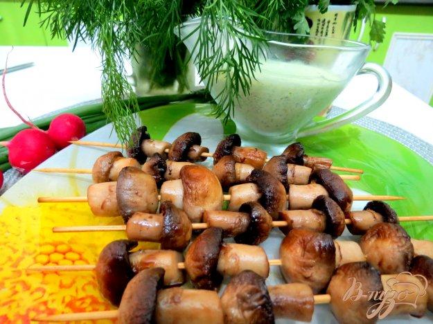 фото рецепта: Шашлычки из шампиньонов