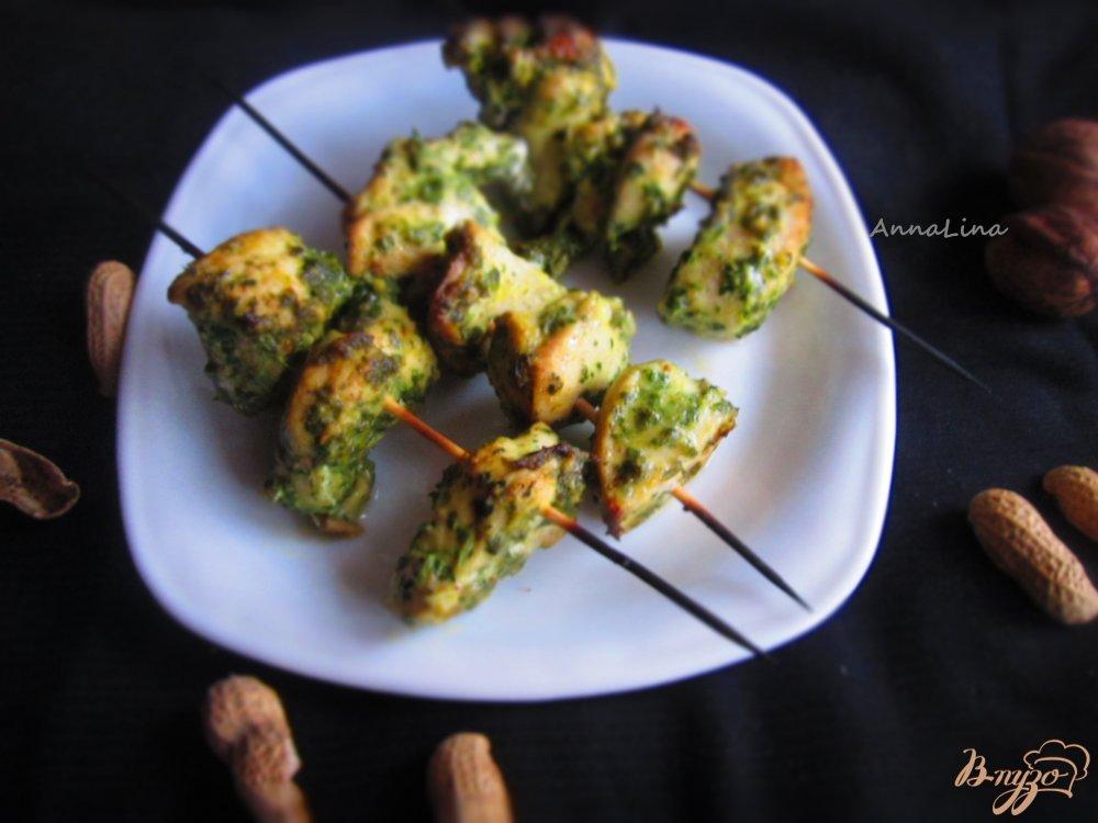 Фото приготовление рецепта: Куриный шашлык в ореховом соусе шаг №5