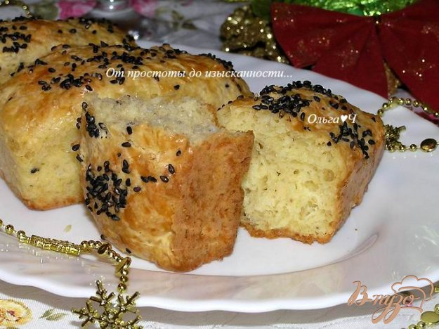 фото рецепта: Булочки с сыром, отрубями и кунжутом