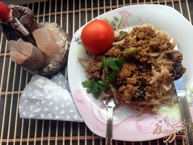 фото рецепта: Макароны с тофу и оливками