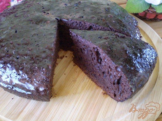 Фото приготовление рецепта: Шоколадное кухэ шаг №14