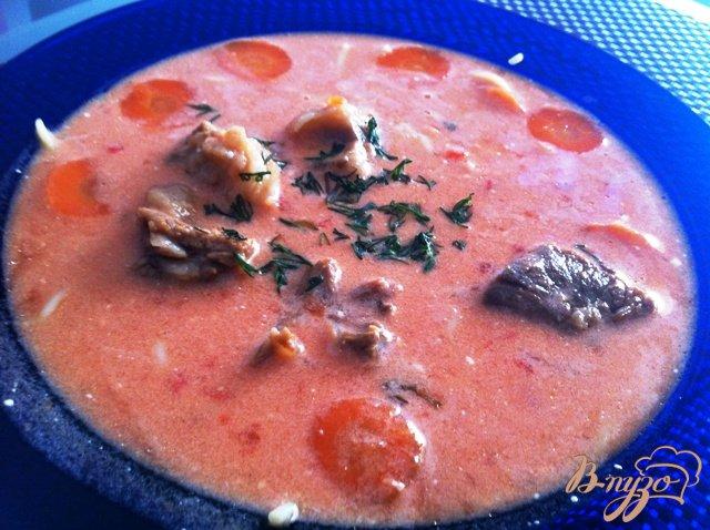 Фото приготовление рецепта: Томатаный суп шаг №8