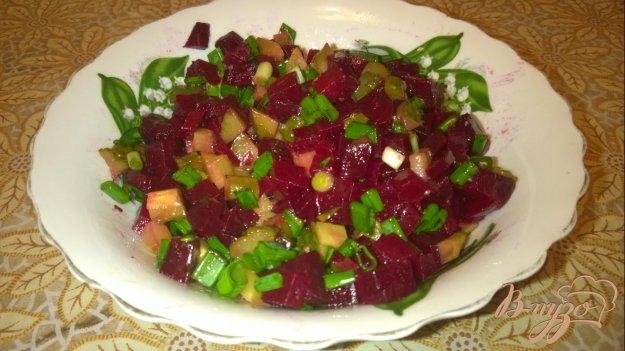 Салат из свеклы соленых огурцов рецепт с