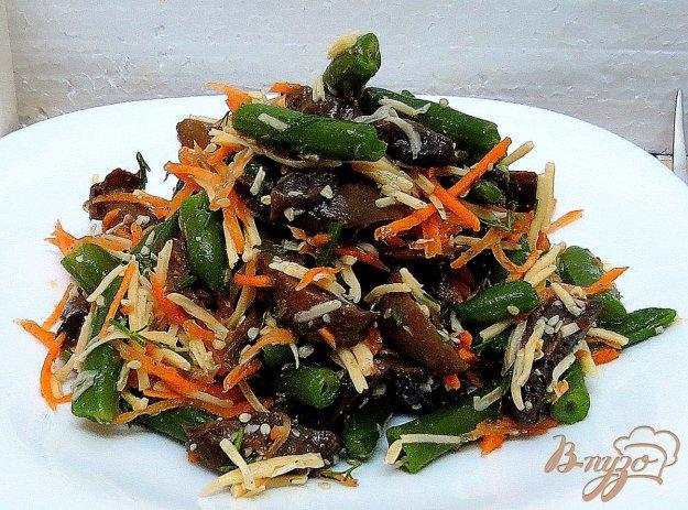 фото рецепта: Салат со спаржевой фасолью и грибами
