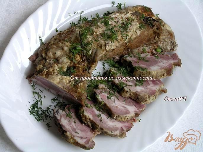 Фото приготовление рецепта: Запеченный свиной карбонад шаг №4