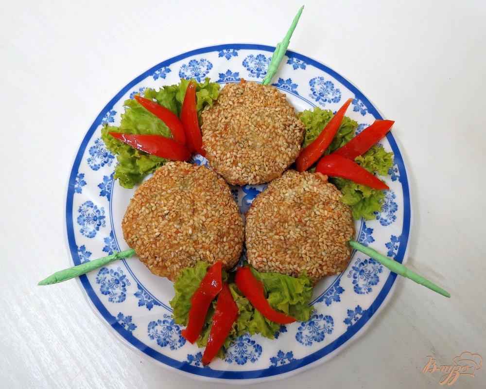 Фото приготовление рецепта: Мясные закусочные *леденцы* шаг №9