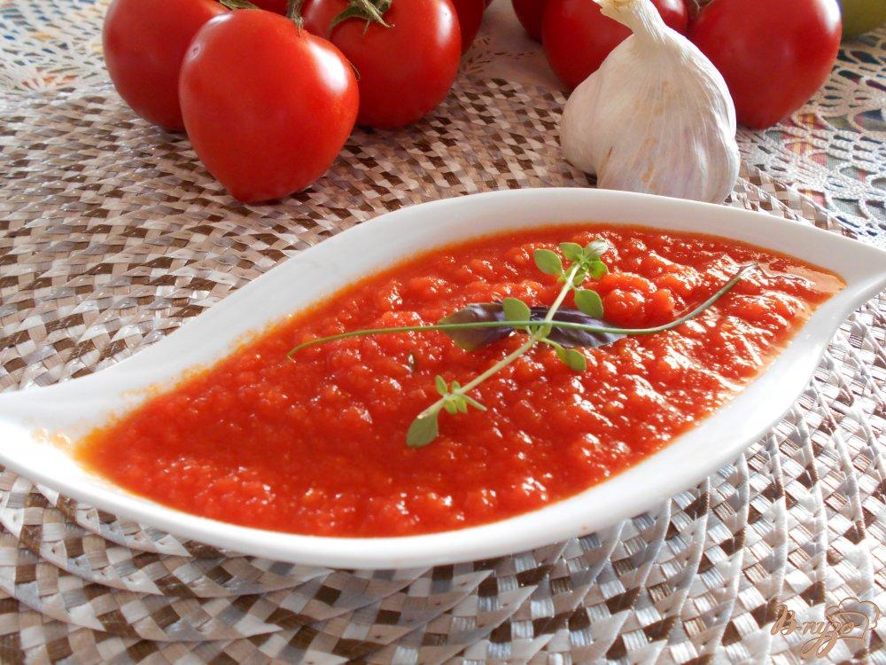 Фото приготовление рецепта: Томатный соус для пиццы и пасты шаг №13