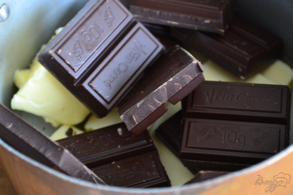 Фото приготовление рецепта: Шоколадный пирог с черносливом шаг №3