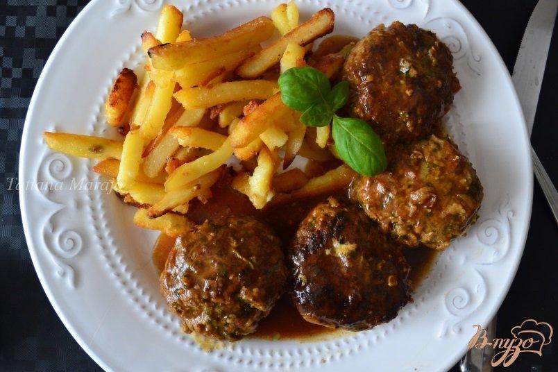 Фото приготовление рецепта: Котлеты с кабачком и шпинатом шаг №8