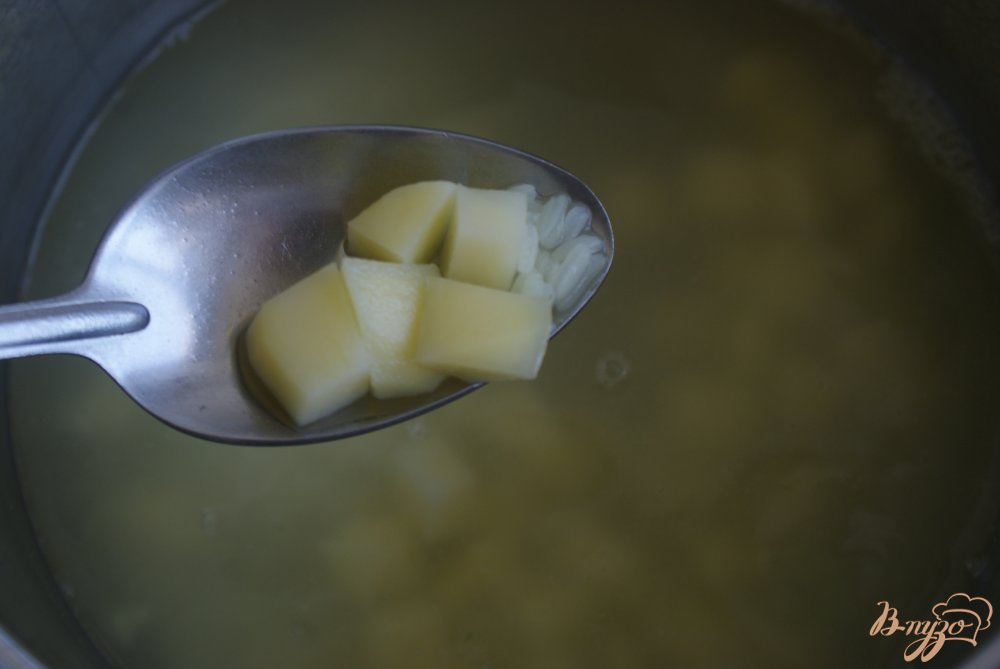 Фото приготовление рецепта: Детский овощной суп-пюре с рисом шаг №7