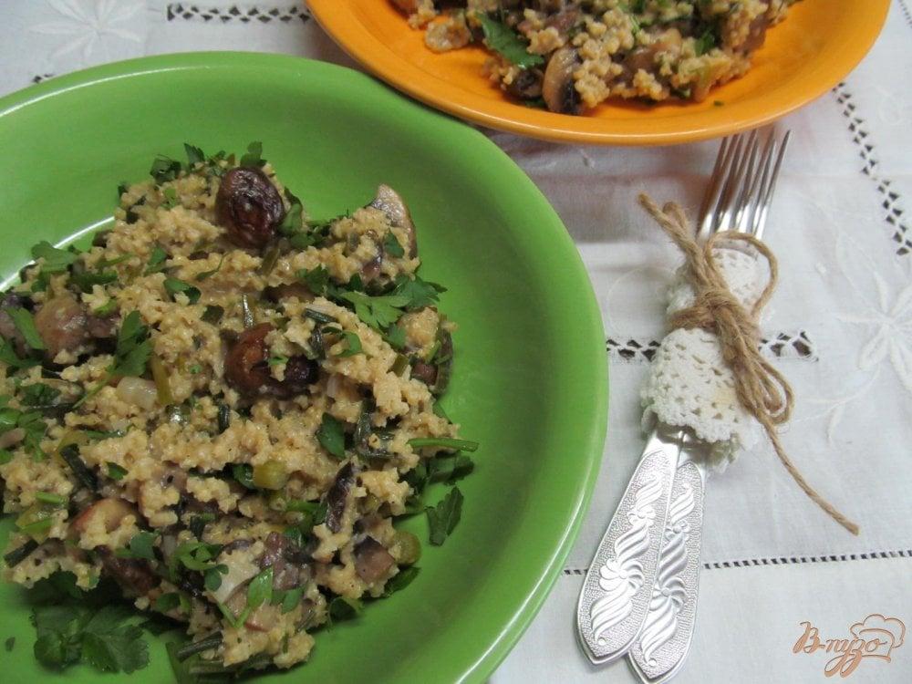 Фото приготовление рецепта: Рагу из грибов и пшена шаг №9