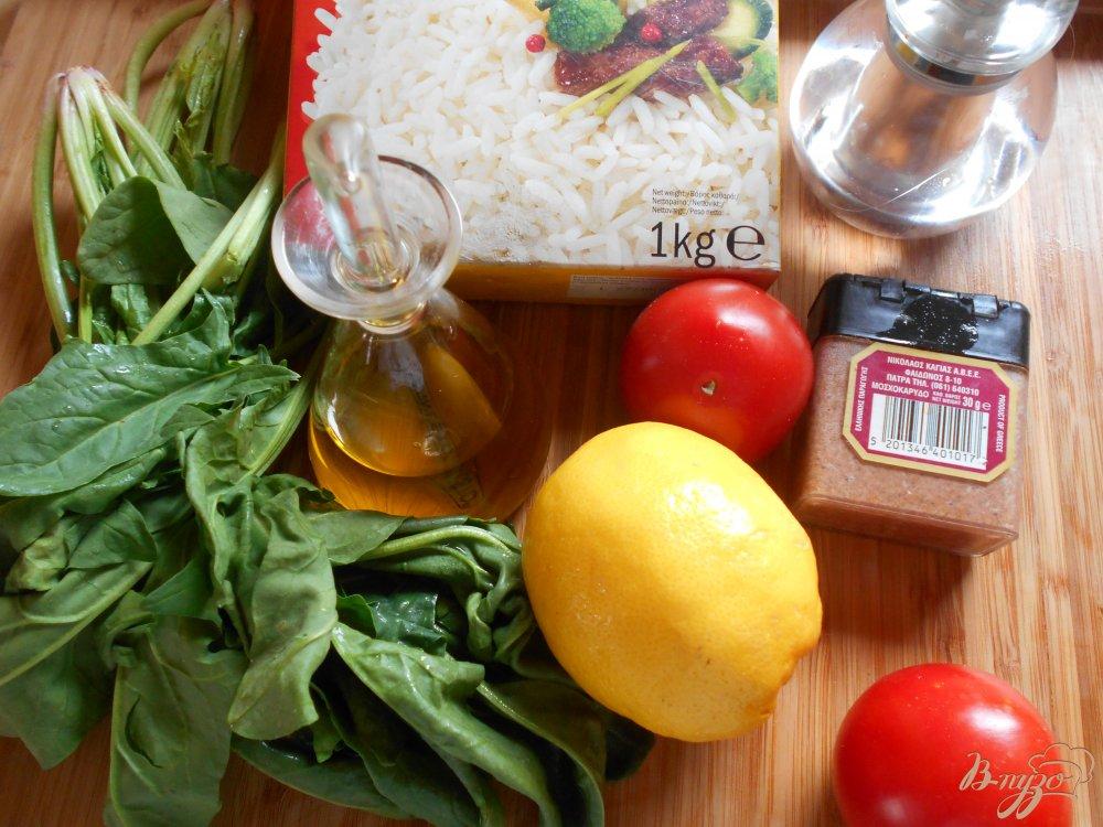 Фото приготовление рецепта: Спанакоризо- рис со шпинатом по-гречески шаг №1