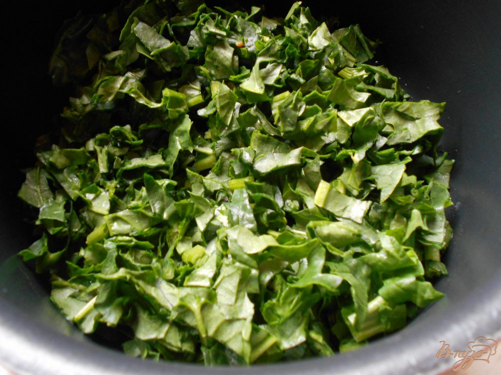Фото приготовление рецепта: Спанакоризо- рис со шпинатом по-гречески шаг №4