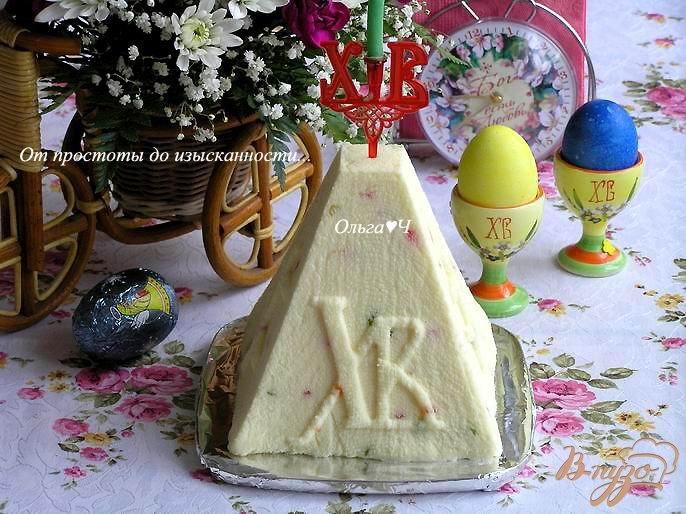 Фото приготовление рецепта: Творожная пасха с цукатами шаг №7