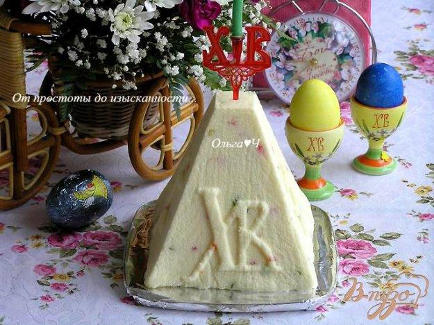 фото рецепта: Творожная пасха с цукатами