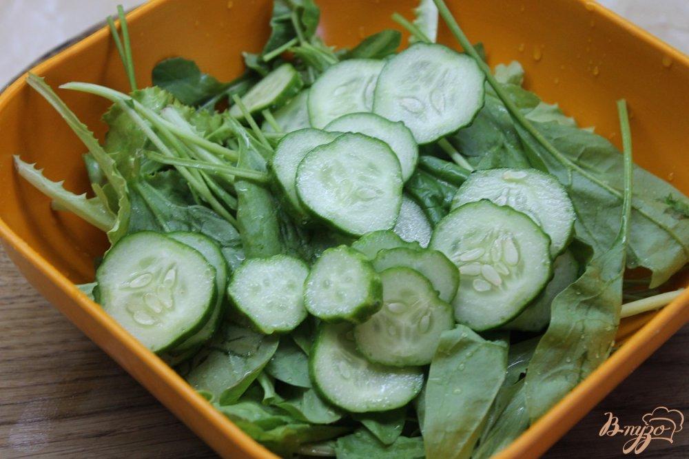Фото приготовление рецепта: Фреш салат шаг №3