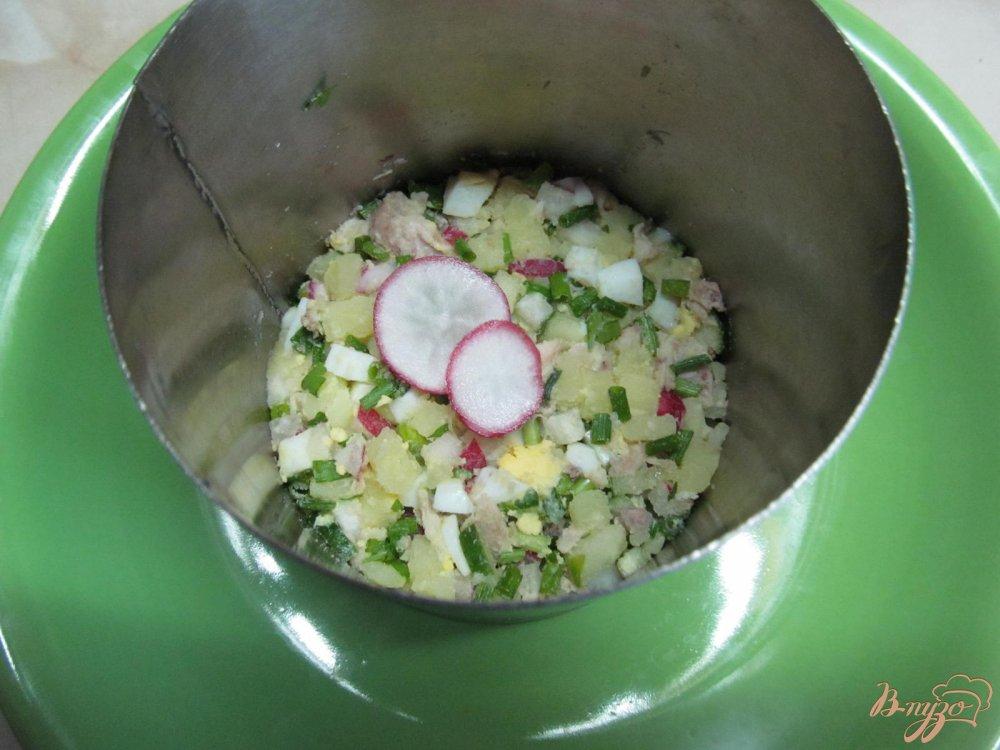 Фото приготовление рецепта: Окрошка на кефире шаг №7