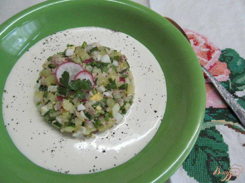 Фото приготовление рецепта: Окрошка на кефире шаг №8