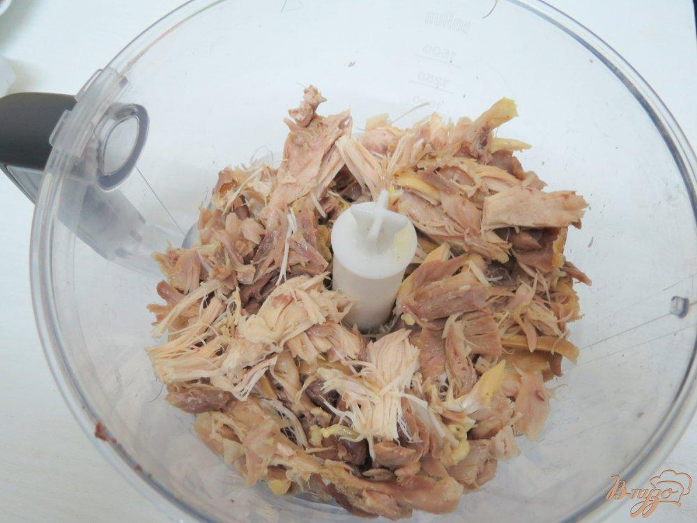 Фото приготовление рецепта: Закусочный пенёк шаг №6