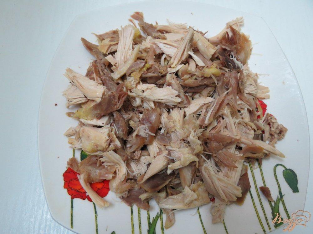 Фото приготовление рецепта: Закусочный пенёк шаг №4