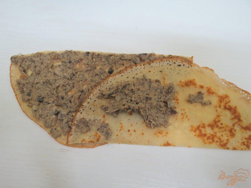 Фото приготовление рецепта: Закусочный пенёк шаг №10