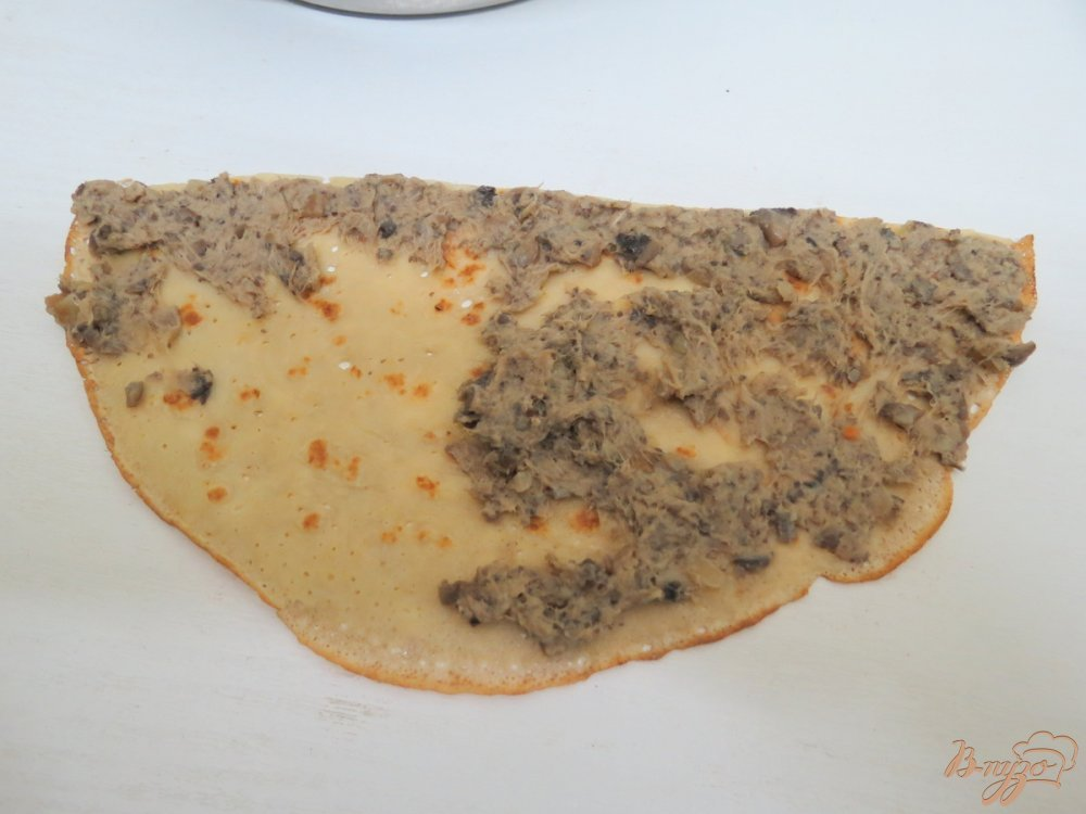 Фото приготовление рецепта: Закусочный пенёк шаг №9