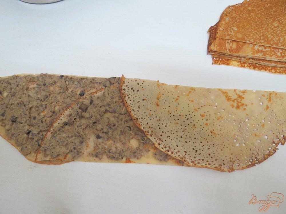 Фото приготовление рецепта: Закусочный пенёк шаг №11
