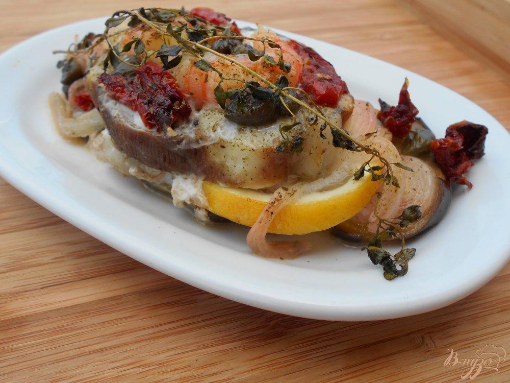 Фото приготовление рецепта: Филе рыбы, запеченное в пергаменте шаг №6