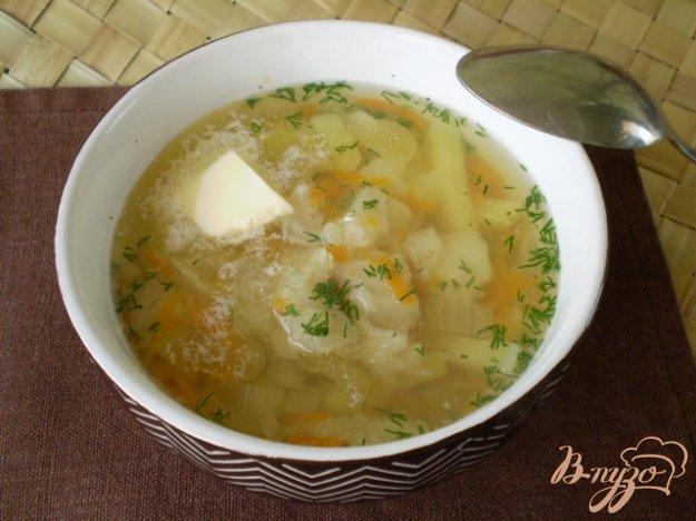 фото рецепта: Суп из минтая с маслом и укропом