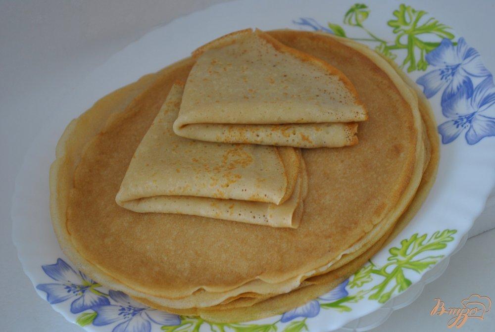 Фото приготовление рецепта: Блинчики без молока и яиц шаг №5