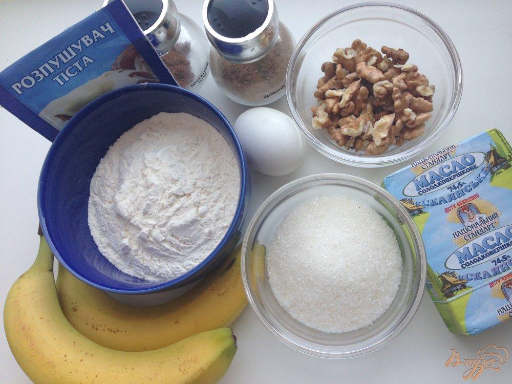 Фото приготовление рецепта: Бананово-ореховое печенье шаг №1