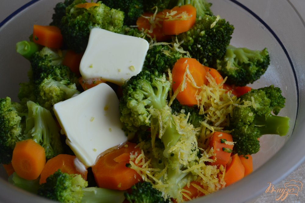 Фото приготовление рецепта: Гарнирные овощи с лимонной цедрой шаг №3