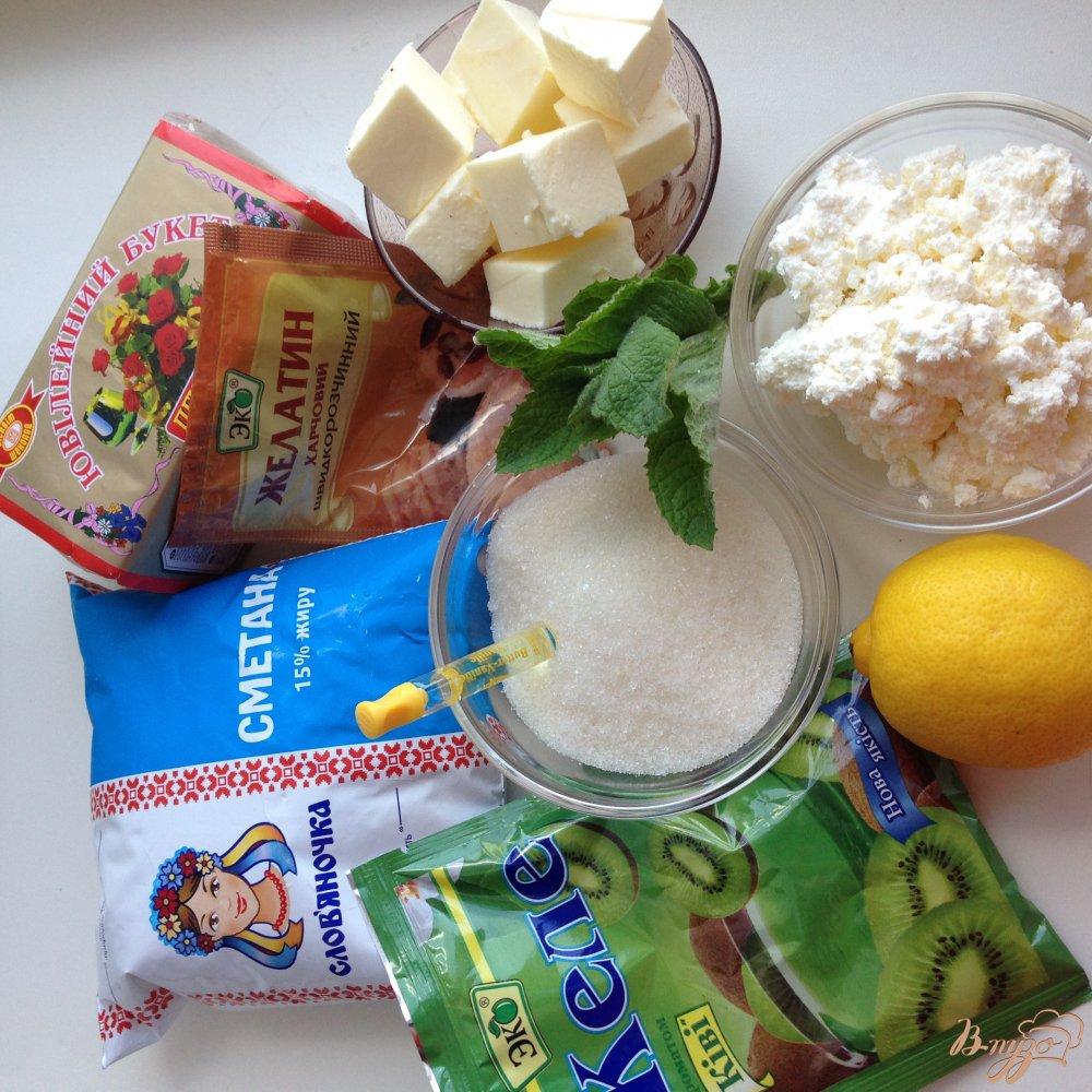 Фото приготовление рецепта: Желейный торт без выпечки с цитрусовым  вкусом шаг №1