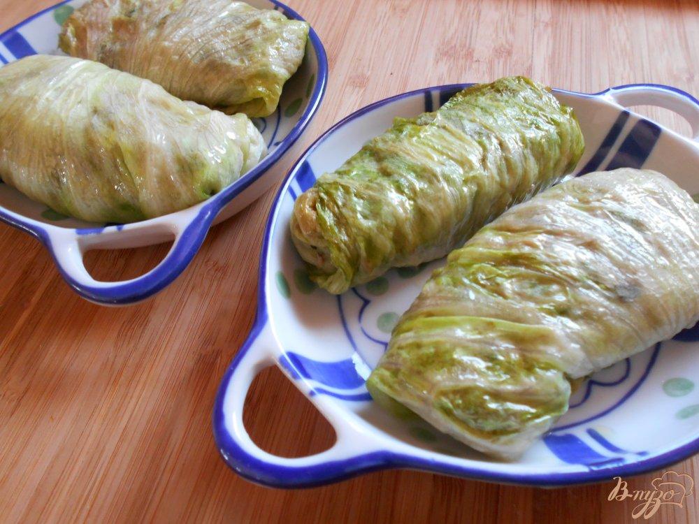 Фото приготовление рецепта: Голубцы из качанного салата шаг №7