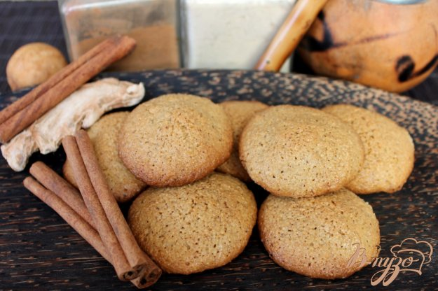 фото рецепта: Овсяное печенье с имбирем и корицей
