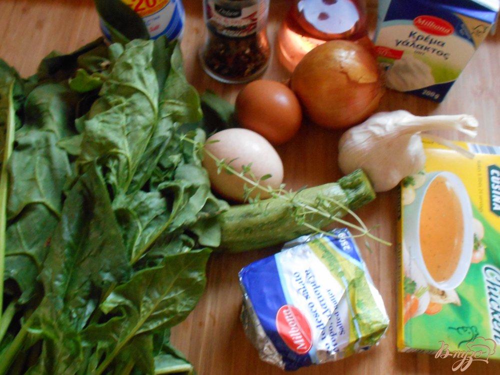 Фото приготовление рецепта: Суп -пюре со шпинатом и цуккини шаг №1