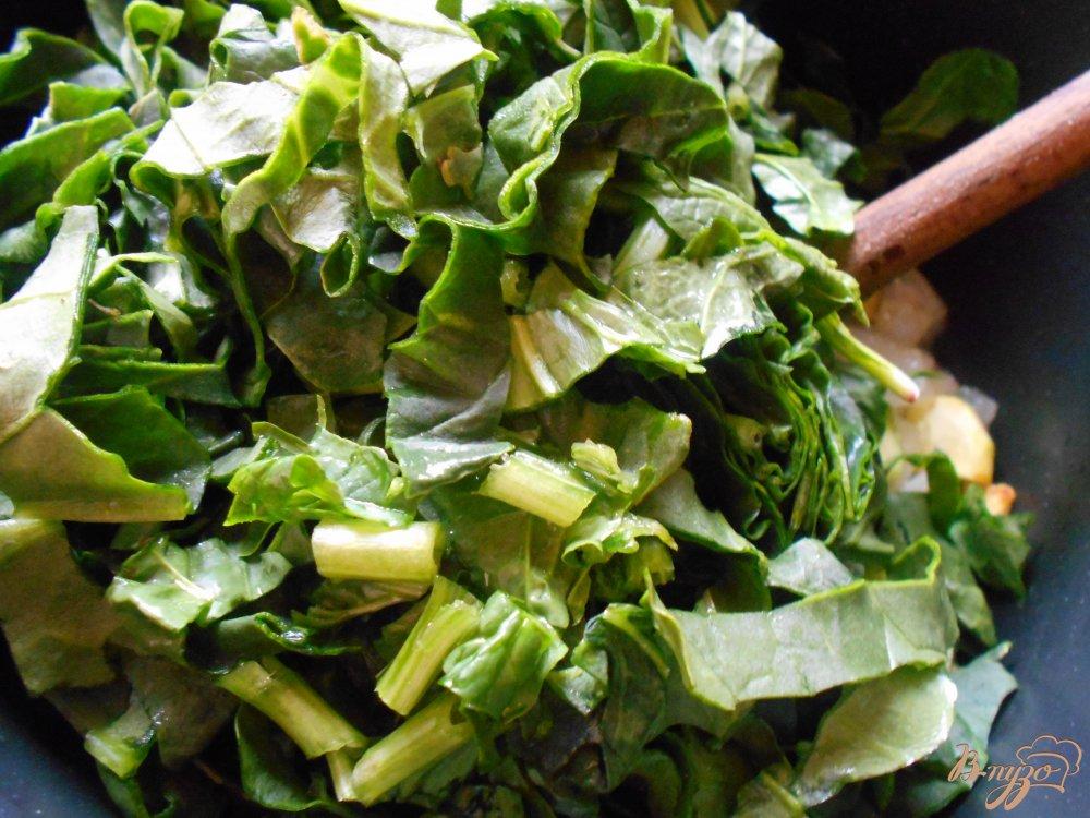 Фото приготовление рецепта: Суп -пюре со шпинатом и цуккини шаг №7
