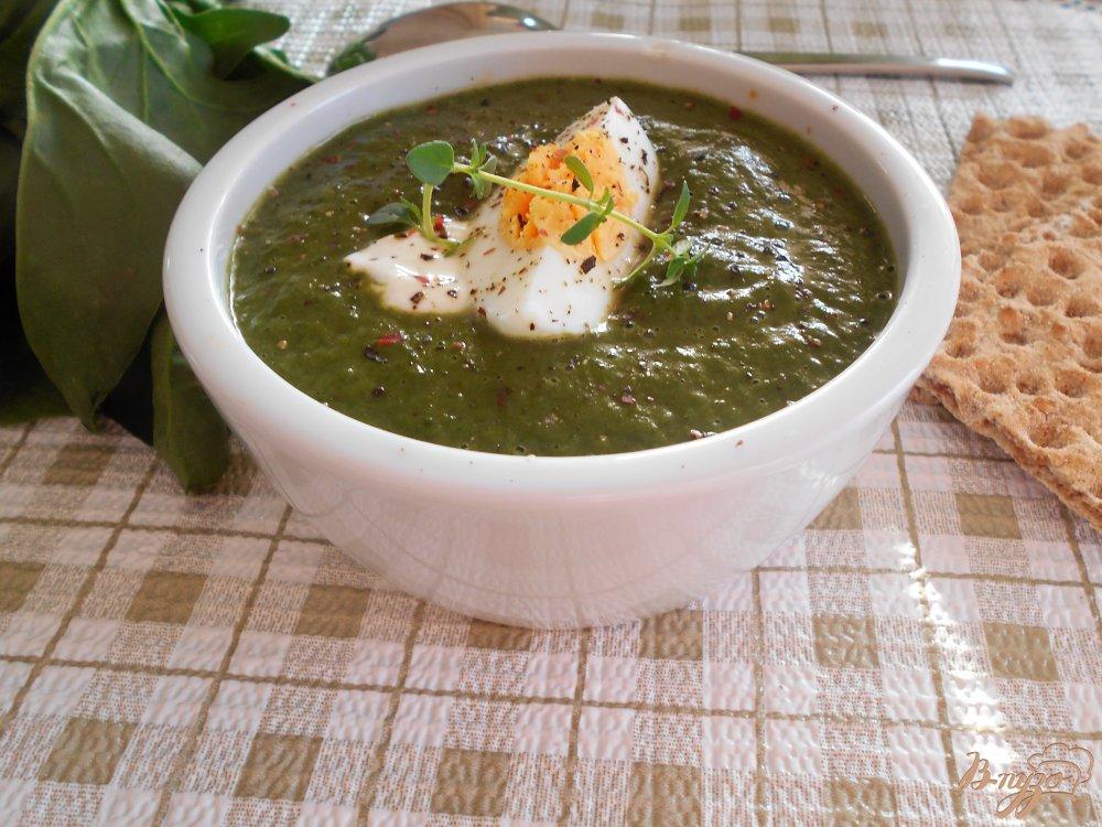 Фото приготовление рецепта: Суп -пюре со шпинатом и цуккини шаг №11