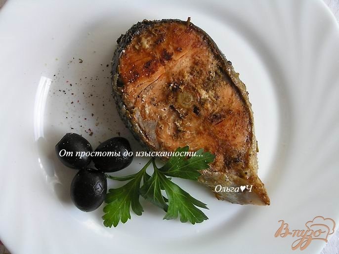 Фото приготовление рецепта: Кижуч в пряностях с корицей шаг №5