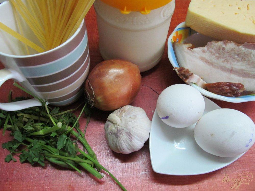 Фото приготовление рецепта: Паста карбонара шаг №1