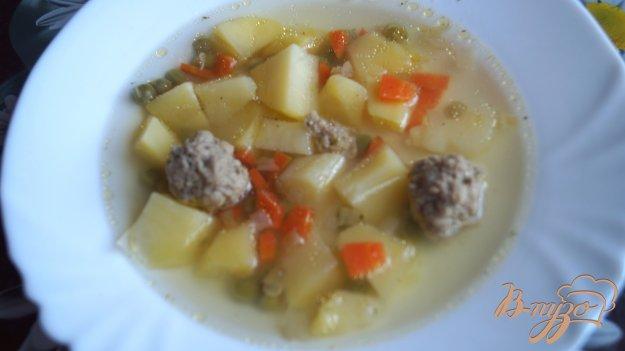 фото рецепта: Суп гороховый с фрикадельками