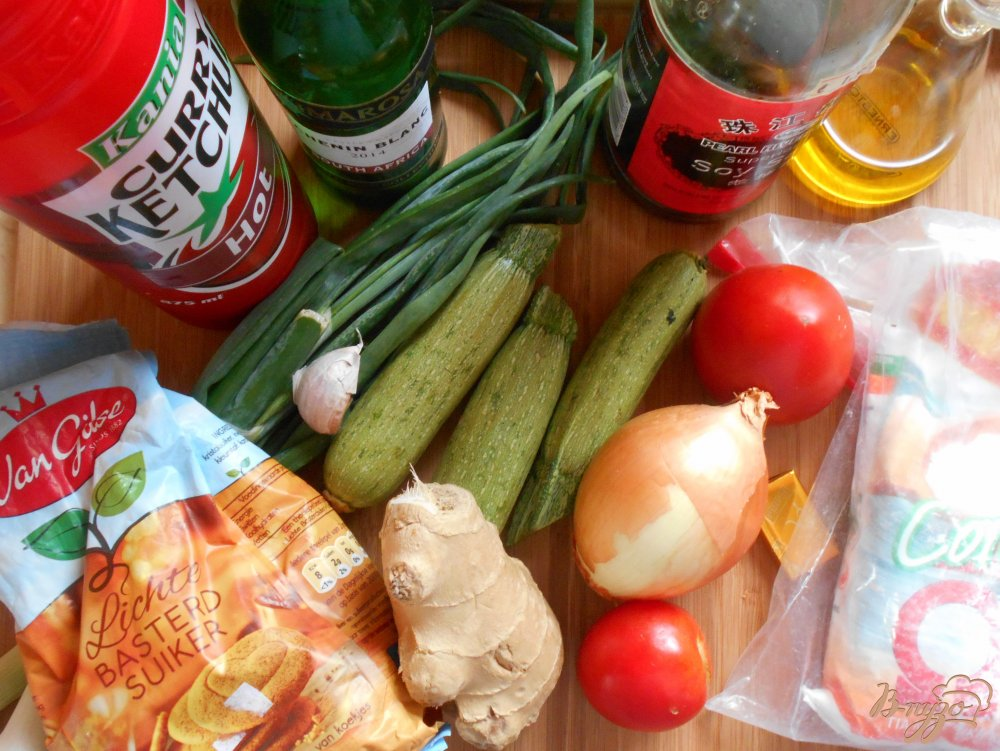 Фото приготовление рецепта: Цуккини по-шанхайски шаг №1