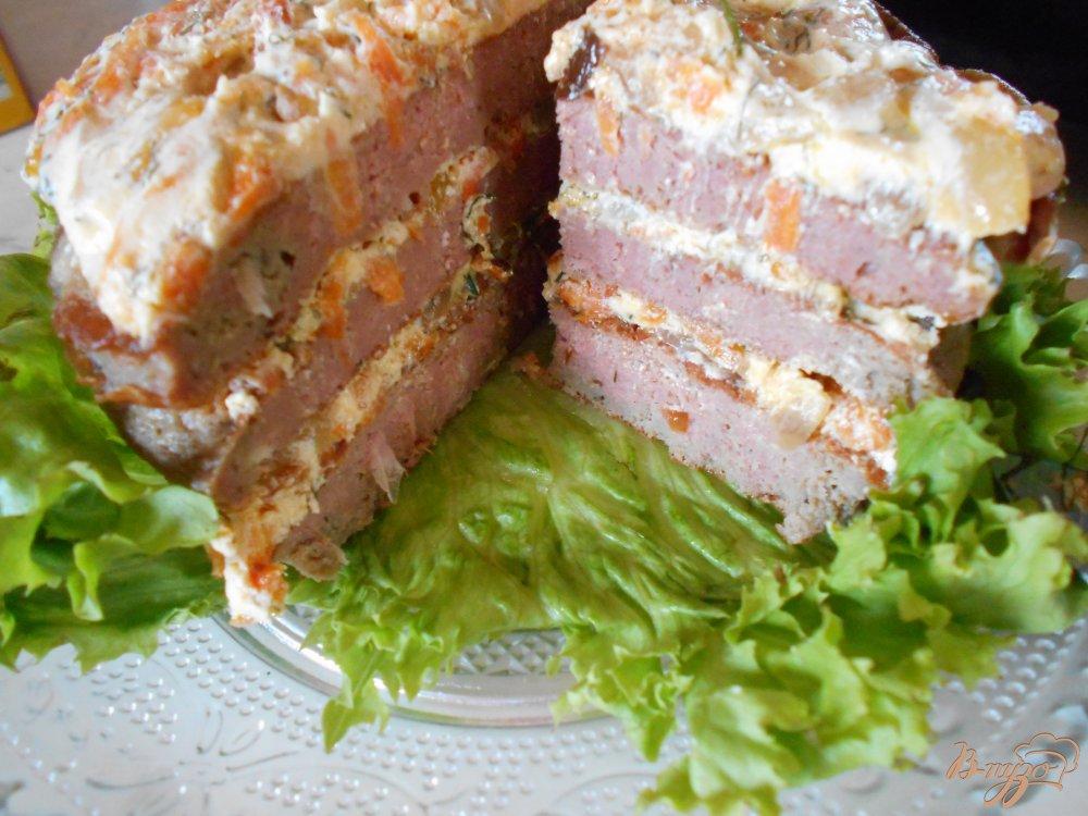 Фото приготовление рецепта: Печеночный торт шаг №9