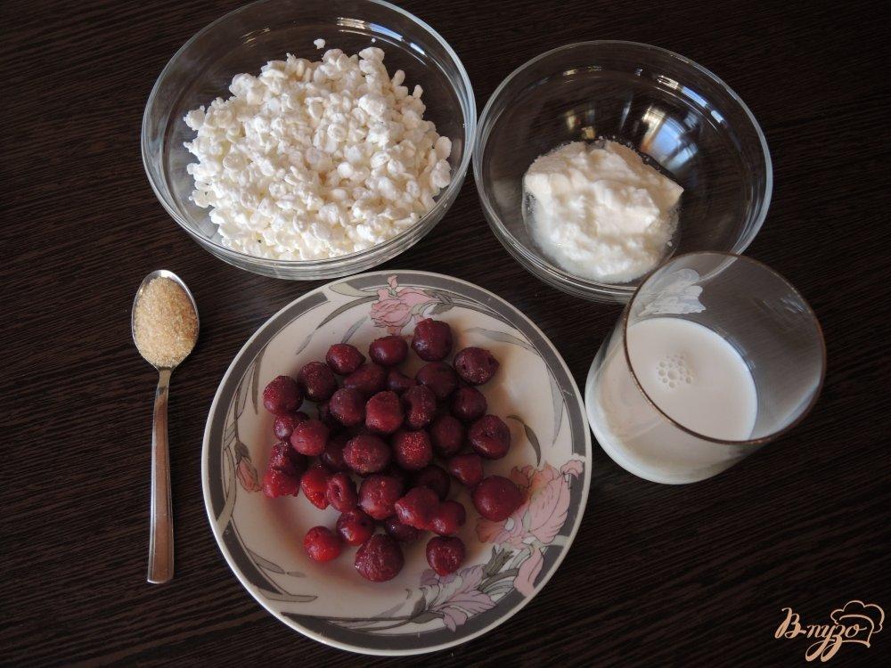 Фото приготовление рецепта: Диетическое вишнёвое бланманже шаг №1