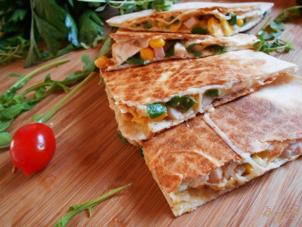 Фото приготовление рецепта: Тортилья по-мексикански шаг №11