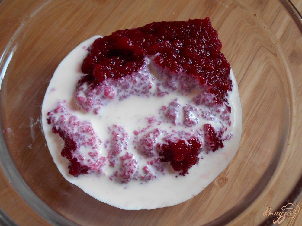 Фото приготовление рецепта: Закуска из свекольного мусса и креветок шаг №4