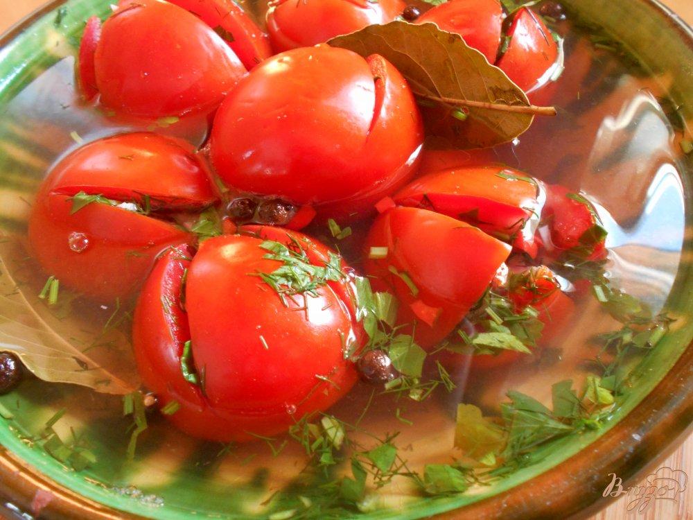 Фото приготовление рецепта: Маринованные помидоры шаг №7