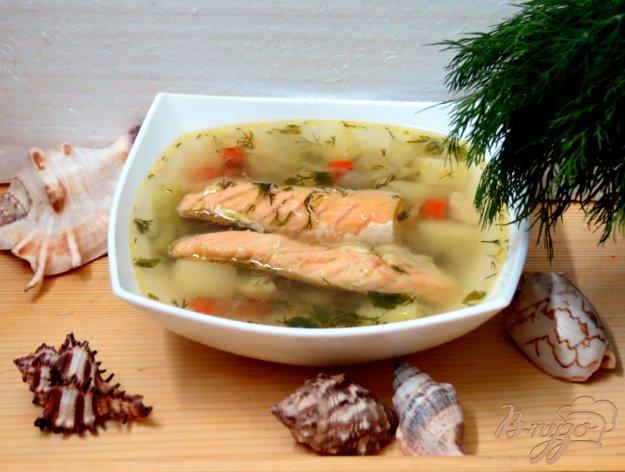 фото рецепта: Суп овощной с брюшками сёмги.