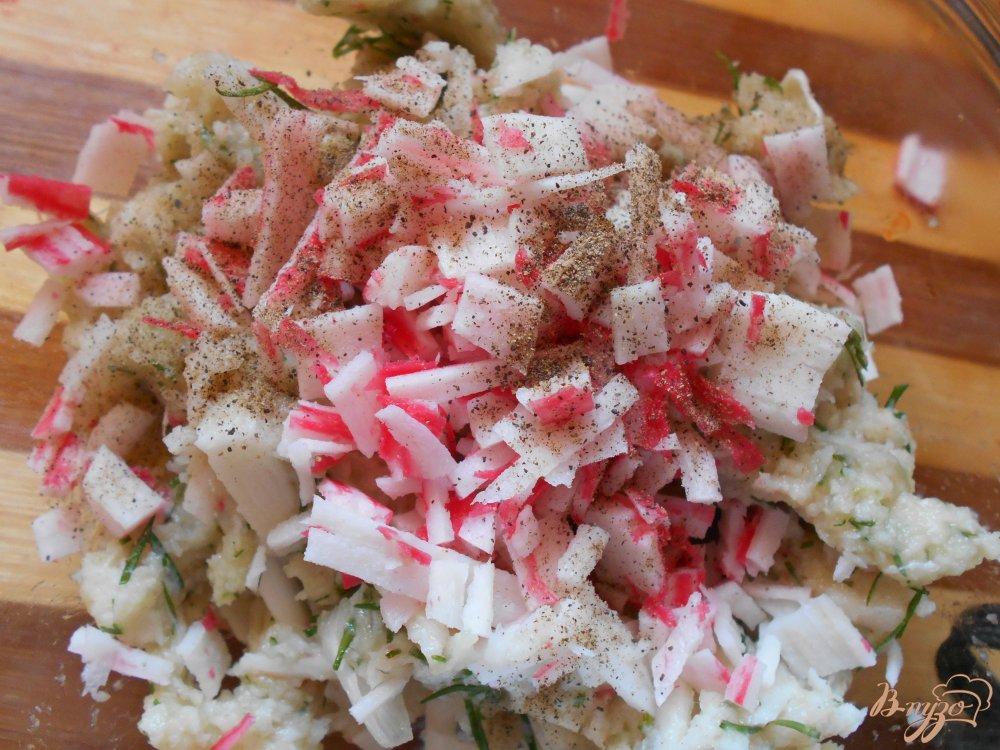 Фото приготовление рецепта: Рыбные пенечки шаг №6